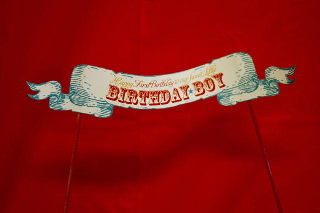 vintage circus birthday banner