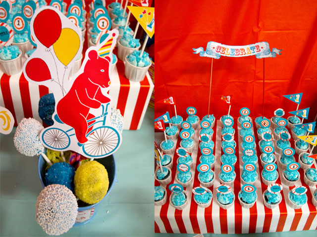 vintage circus desserts