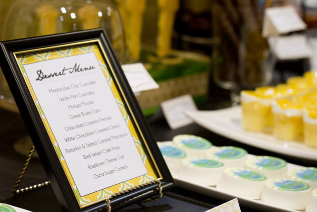 the oscars themed dessert table and menu