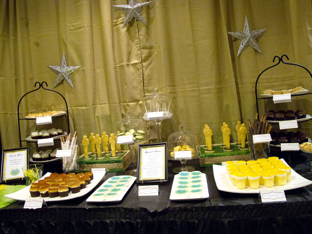 the oscars themed dessert table