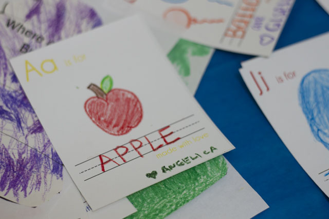 diy project back to school themed alphabet book - A for Apple