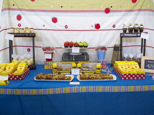 back to school themed Dessert Table