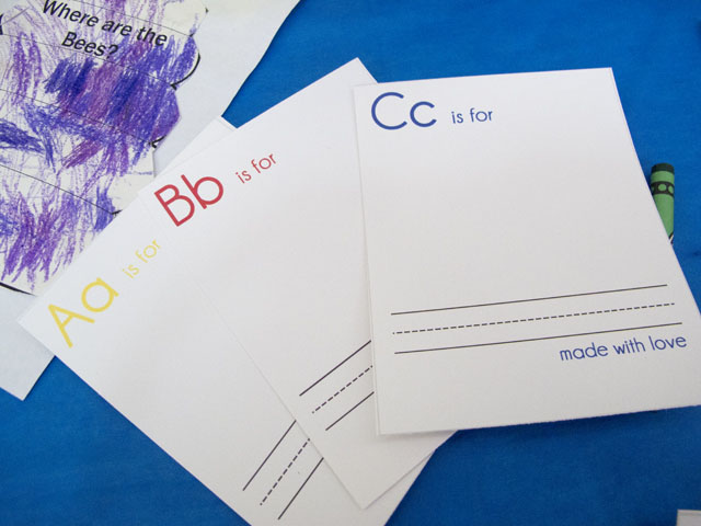 Diy alphabet book A, B, Cs