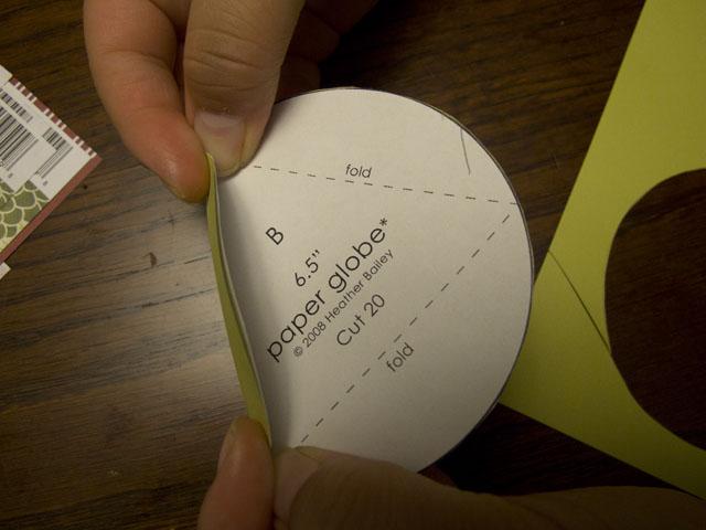 diy modern paper globes fold/score