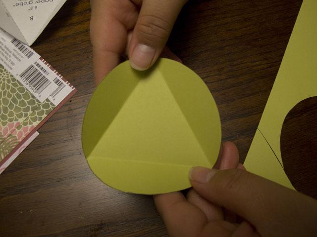 diy modern paper globes fold triangle