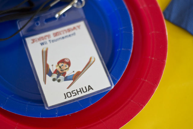 super mario wii tournament name badge