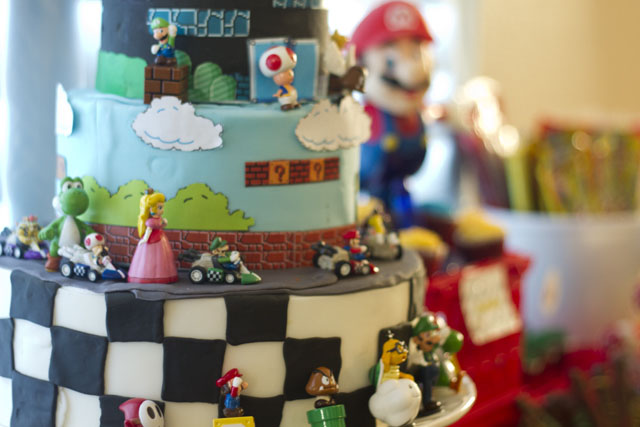 Super Mario Dessert Table