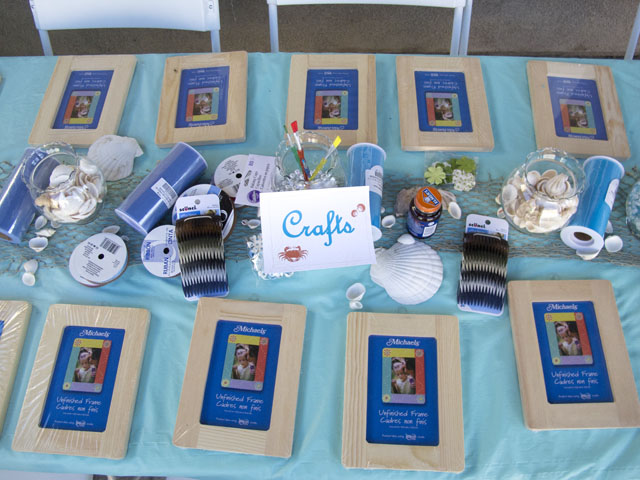 under the sea party crafts table