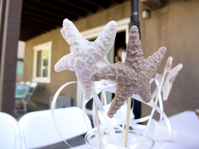 under the sea party starfish centerpiece
