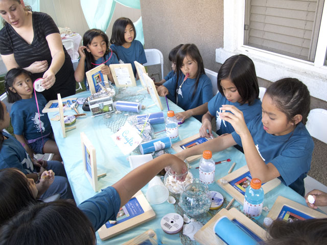 under the sea party crafting