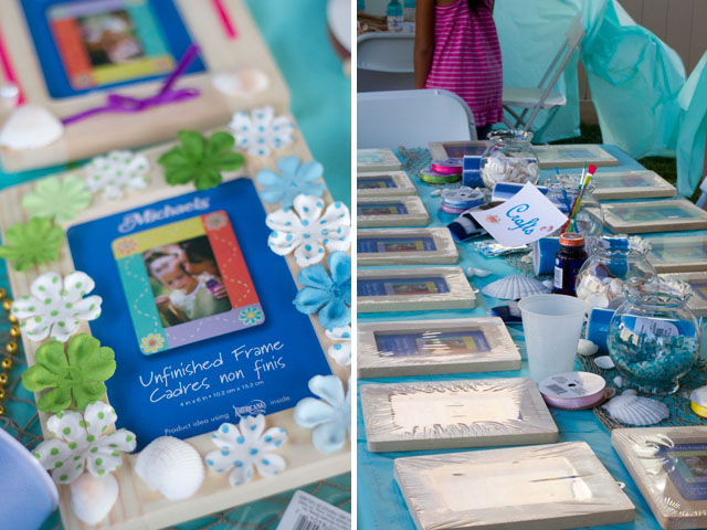 under the sea party craft frames