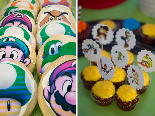 super mario cupcakes and cookies