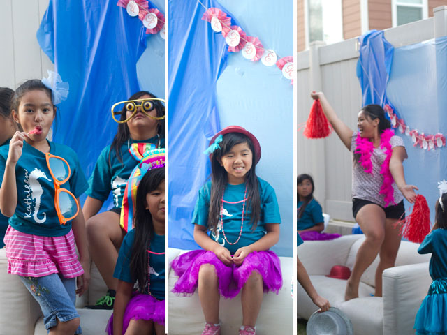 under the sea party photobooth and costumes