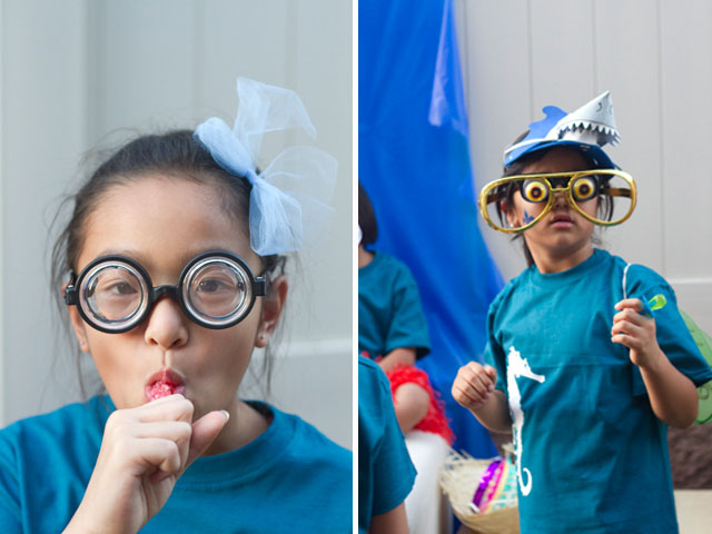 under the sea party photobooth funny glasses