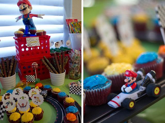 super mario kart desserts and cupcakes