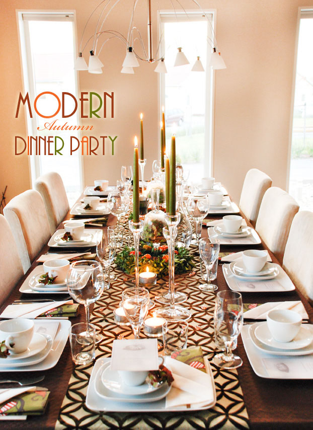 5 thanksgiving tablescapes love every detail for Modern fall table decorations