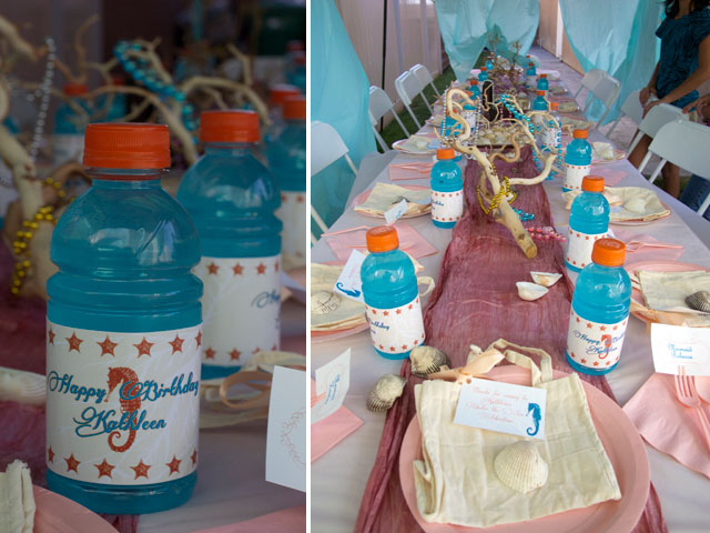 under the sea party table setting