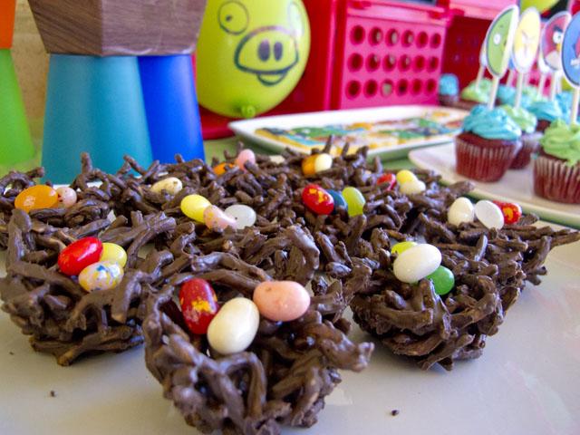 angry birds chocolate birds nests