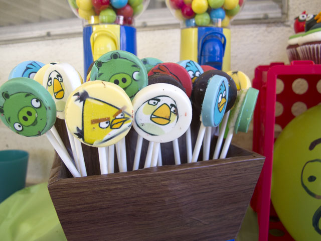 angry birds candy pops