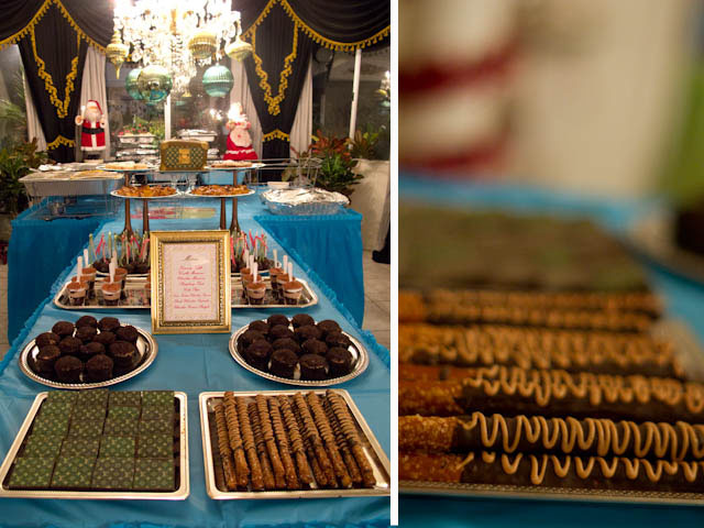 louis vuitton inspired dessert table and chocolate covered pretzels