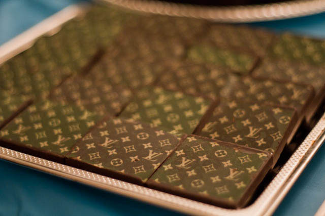 louis vuitton inspired chocolate squares