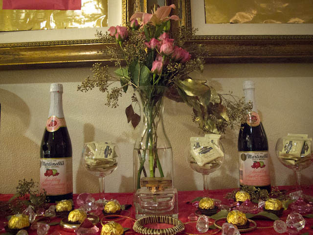 pink and gold inspired dessert table