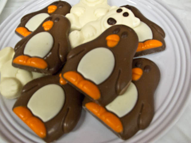winter candyland chocolate penguins and chocolate polar bears