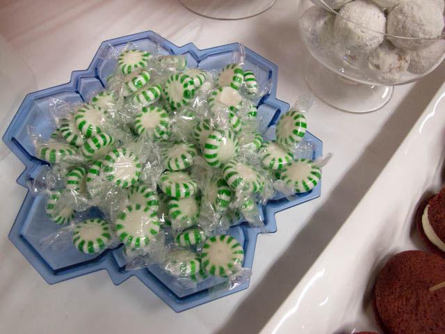 winter candyland green mints