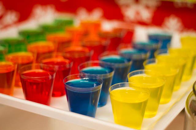 winter candyland jello shots