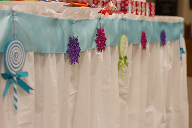 winter candyland dessert table decorations