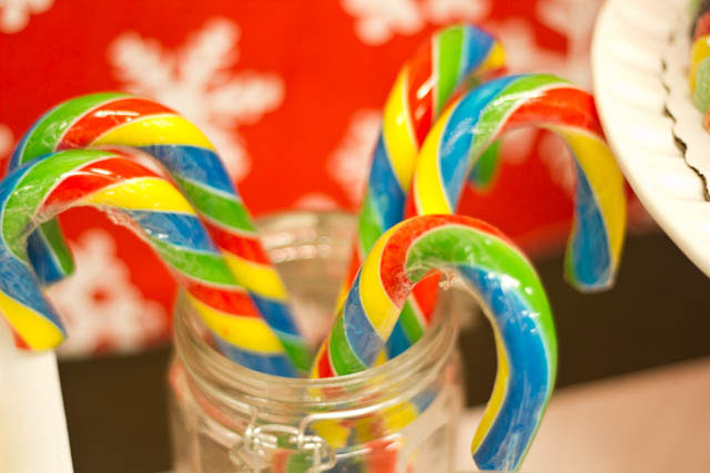 winter candyland candy canes
