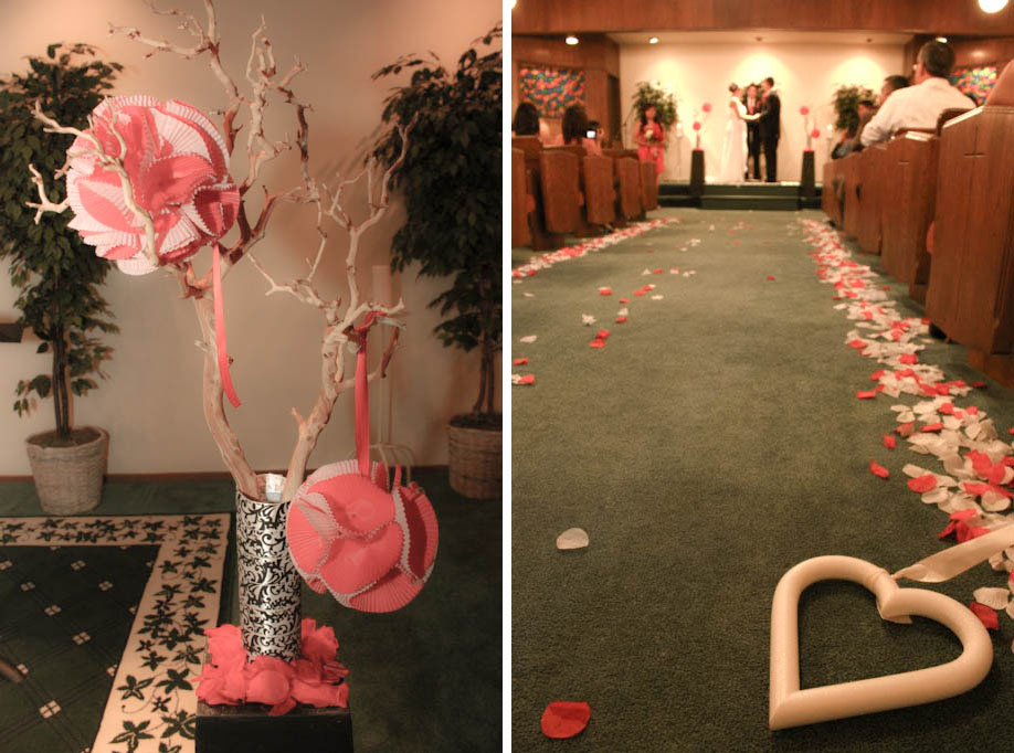 heart to heart wedding aisle decor