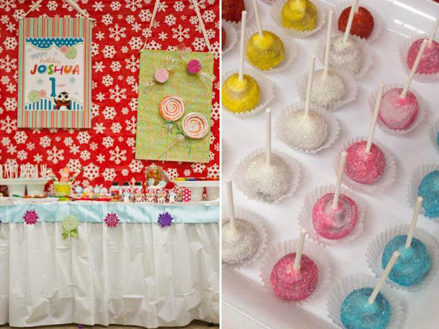 winter candyland cake pops