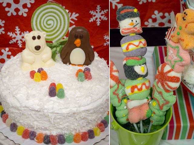 winter candyland cake and pop