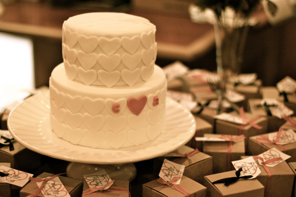 heart to heart wedding dessert table