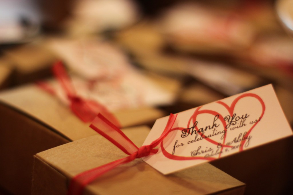 heart to heart wedding favors