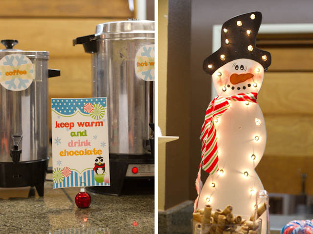 winter candyland hot cocoa bar