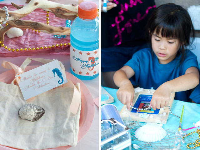 under the sea party crafting and decorating frames