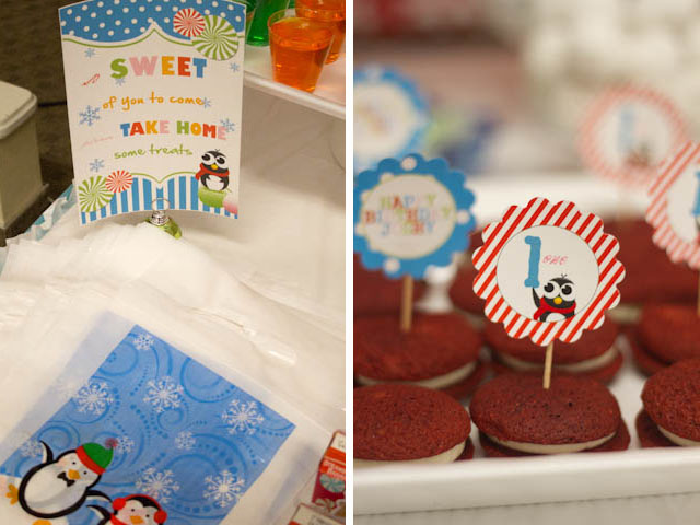 winter candyland treat bags and desserts