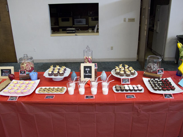 ARC teachers workshop dessert table
