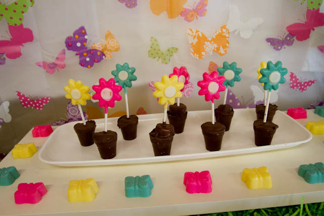 butterfly flower pot chocolate molds