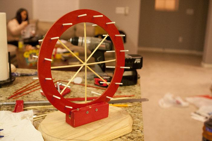 diy cake pop ferris wheel pops