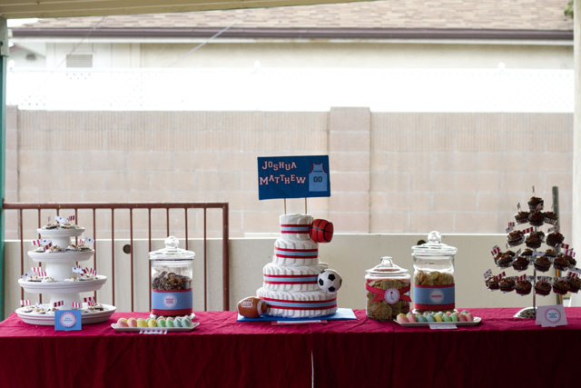 carnival baby shower dessert table