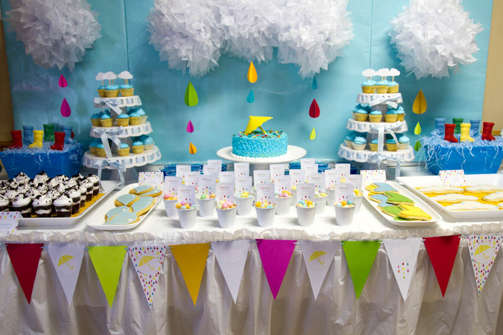 april showers dessert table