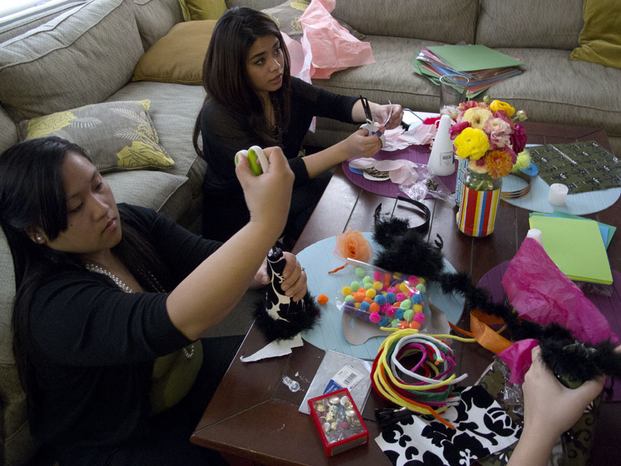 crafting the party hats