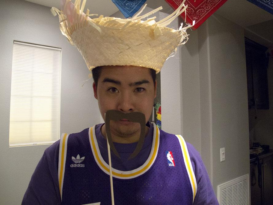 cinco de mayo party hat and moustache