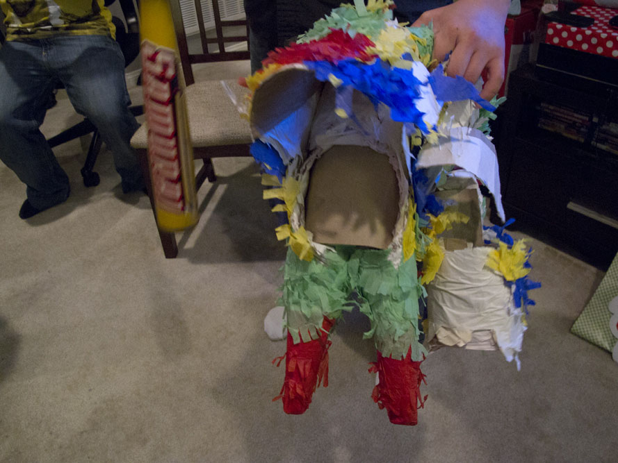 cinco de mayo party pinata busted