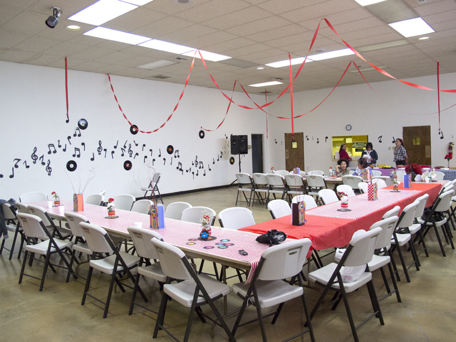 1950s themed Mother's Day Brunch decorations