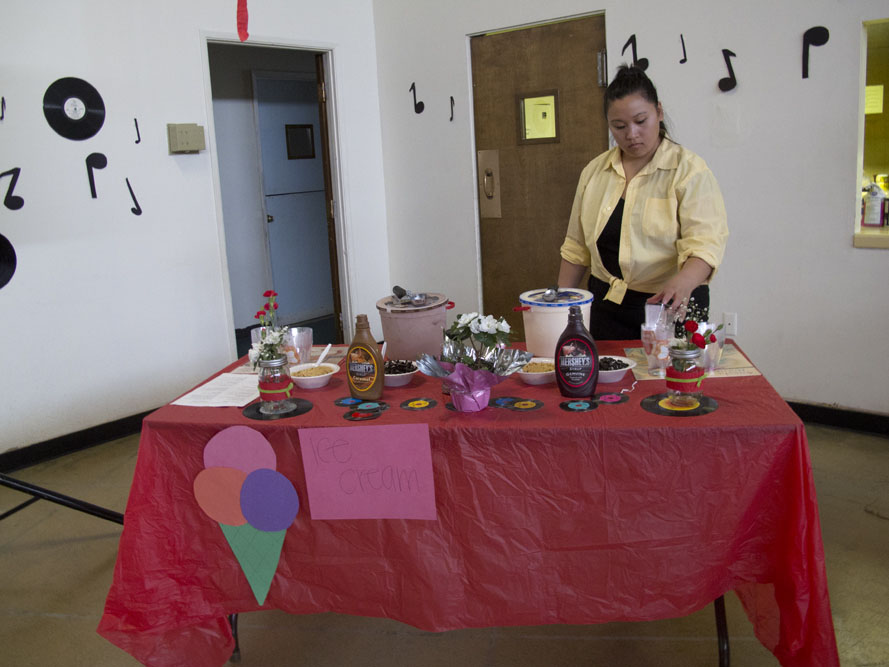 1950s themed Mother's Day Brunch ice cream desserts