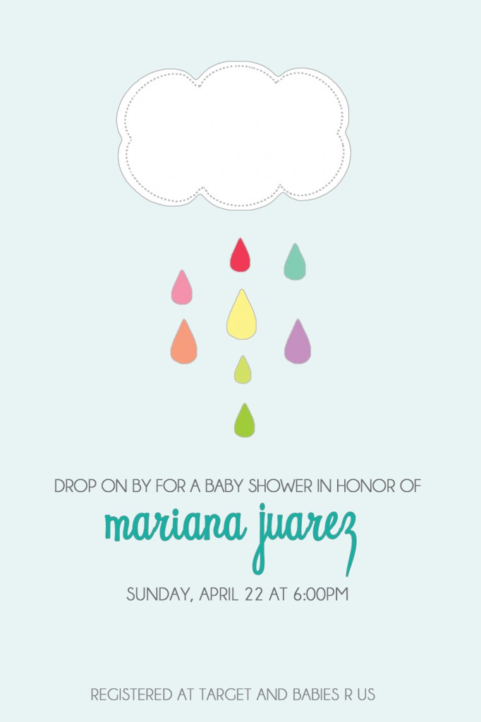 april showers invitation